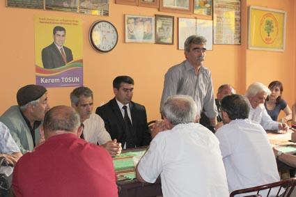 BDP PM Üyesi Mehmet Boztemir;