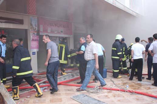 Büyük Mağza'da korkutan yangın