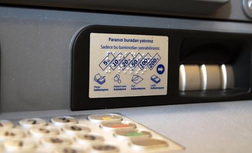 Görme engellilere 'Engelsiz ATM'
