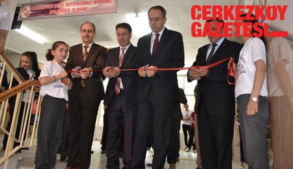 Fuarının 7'ncisi Cumhuriyet Ortaokulu'nda açıldı