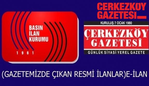 T.C. ÇERKEZKÖY İCRA DAİRESİ 2016/376 TLMT.