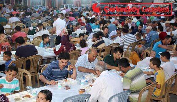 İftar sofrası Veliköy'de kuruldu