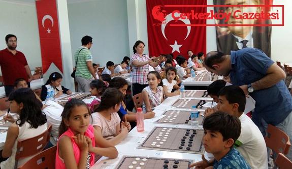 Kapaklı'da ilk kez Türk Daması turnuvası yapıldı