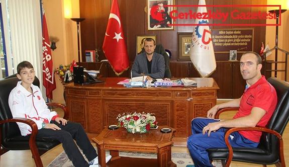 Türkiye Şampiyonu Samet Ayaz'dan ziyaret