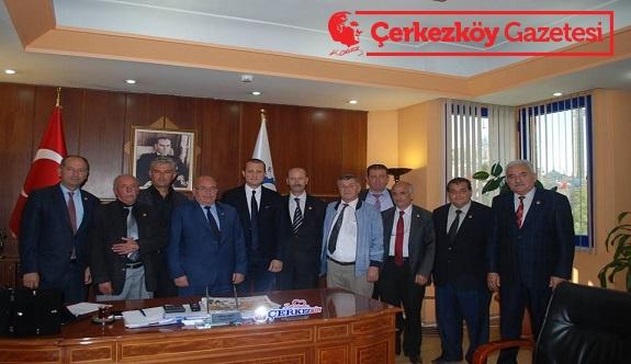 Muhtarlardan Başkan Akay'a teşekkür ziyareti