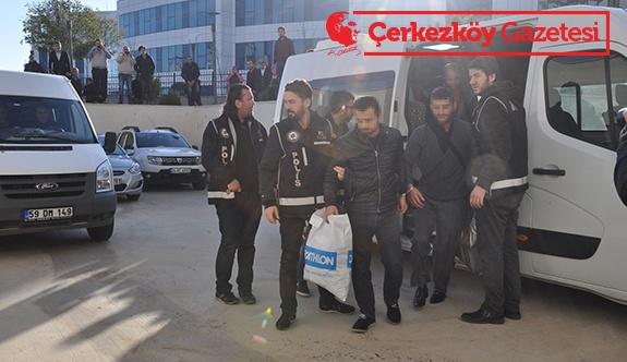 13 kişi tutuklanarak cezaevine gönderildi