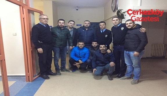 Çerkezköylü gençlerden polise destek