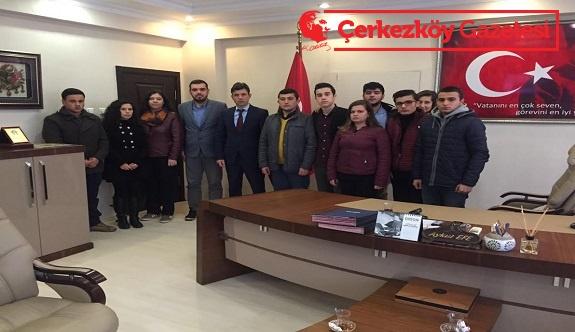 CHP Çorlu Gençlik Kolları'ndan taziye ziyareti