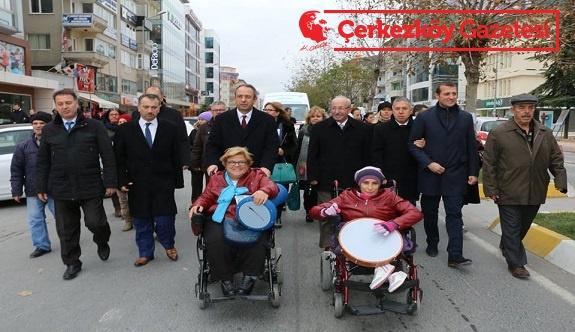 Dünya Engelliler Günü yürüyüşü