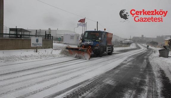ÇOSB'den kar mücadelesi