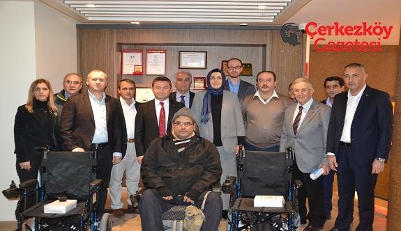 Çerkezköy TSO'dan tekerlekli sandalye yardımı