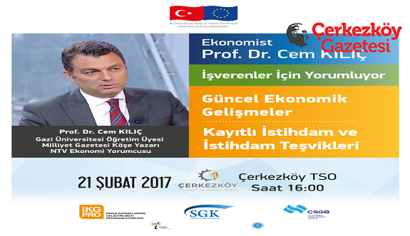 Prof. Dr. Cem Kılıç Çerkezköy'e geliyor