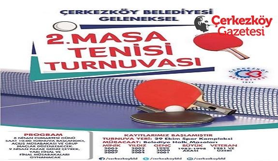 Masa Tenisi Turnuvası başlıyor