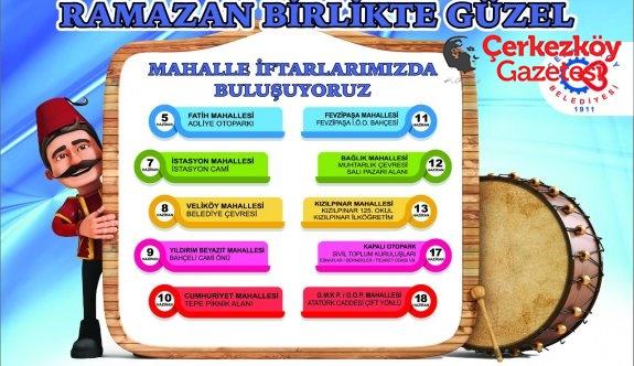 Belediye'nin iftar sofraları kuruluyor