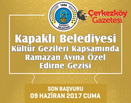 Edirne Kültür Gezileri kayıtları başladı