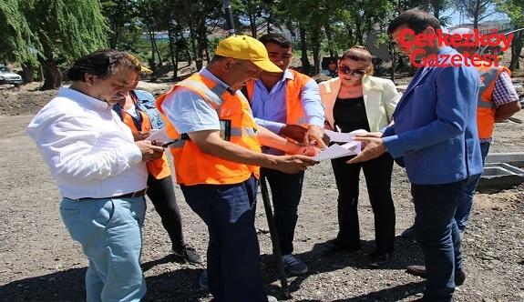Başkan Akay, Kent Park çalışmalarını inceledi