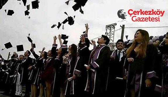 Çerkezköy'ün Uğurluları mezun oldu