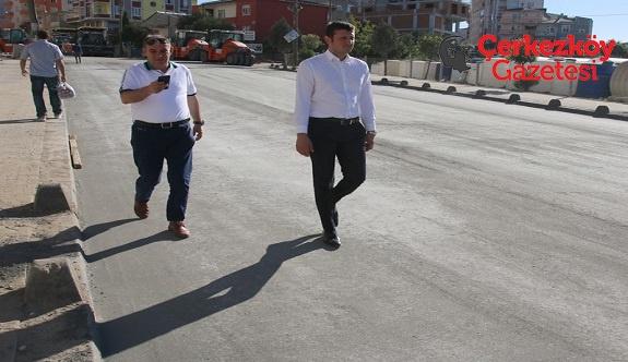 Kızılpınar'ın yolları asfaltlanıyor