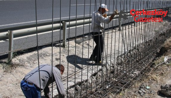 İstinat duvarları tamamlanıyor