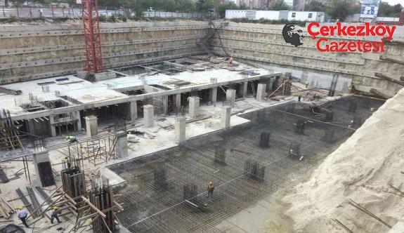 Kapaklı'da kültür merkezi inşaatı devam ediyor