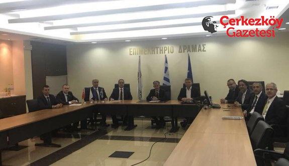Çerkezköy TSO ile Drama TSO arasında protokol imzalandı