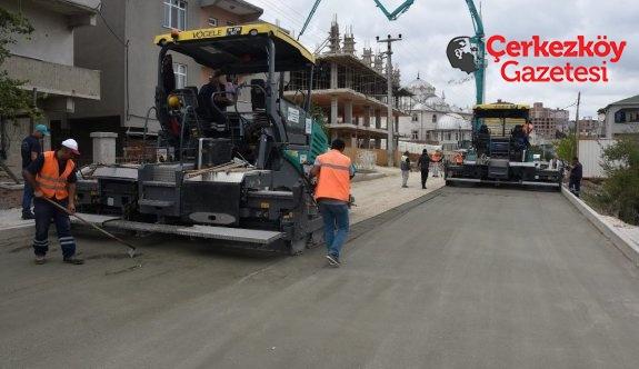 Çerkezköy ve Kapaklı'da yol çalışmaları sürüyor