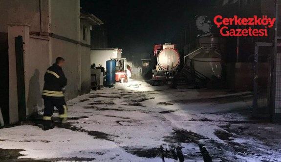 ÇOSB'den açıklama: 3 kişinin vücudunda yanıklar oluşmuştur