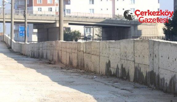 İstinat duvarları tamamlandı