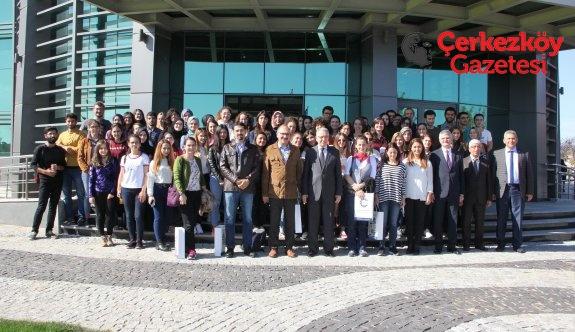 Yıldız Teknik Üniversitesi öğrencilerinden ÇOSB'ye ziyaret