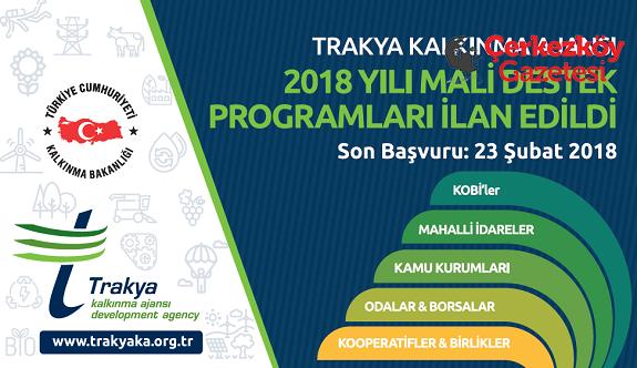 TRAKYAKA 2018 Mali Destek Programlarını ilan etti