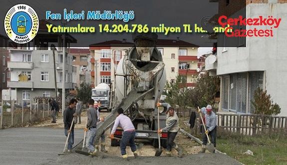 1 yılda 100 bin m² stabilize yol