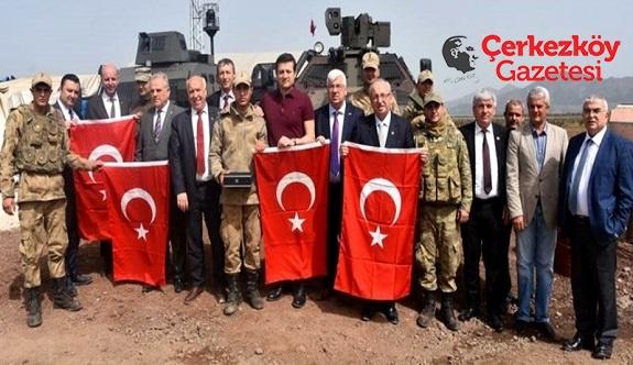 Tekirdağlı başkanlardan Mehmetçiğe destek