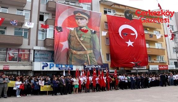Çerkezköy'de 19 Mayıs coşkusu