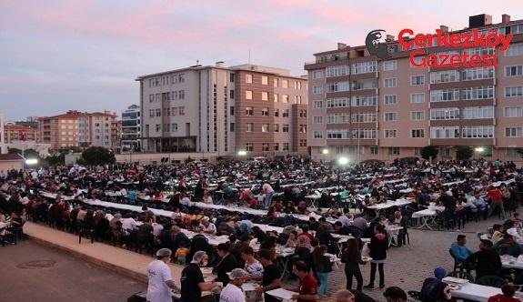 Çerkezköy'de sofralar kuruluyor, gönüller bir oluyor
