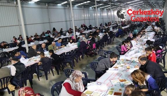 Kızılpınar'da 2 bin kişilik iftar