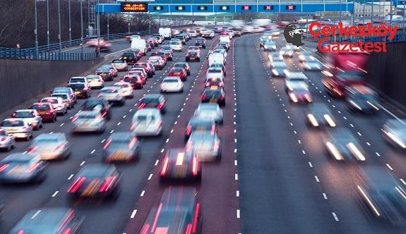 Tekirdağ'da trafiğe kayıtlı taşıt sayısı: 269 bin 538