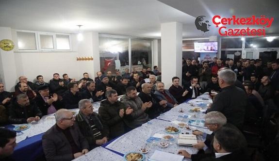 Başkan Mandalı Kömürköylüleri ziyaret etti 
