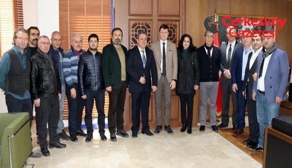 Tokatlılardan Başkan Akay'a ziyaret