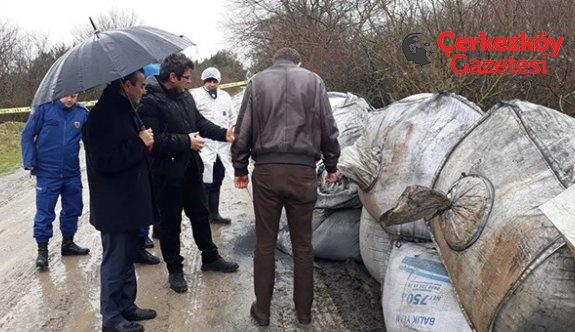 Çerkezköy'de bir çevre felaketi daha