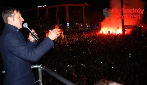 Çerkezköy'de Akay farklı Albayrak kıl payı