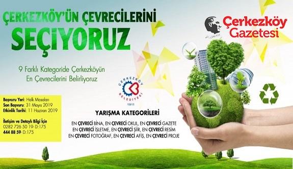 Çerkezköy'de 'Çevre En'leri seçilecek