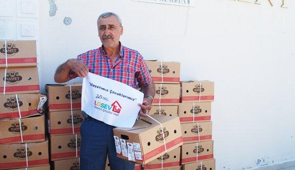 LÖSEV Çerkezköy'de kırmızı et dağıttı