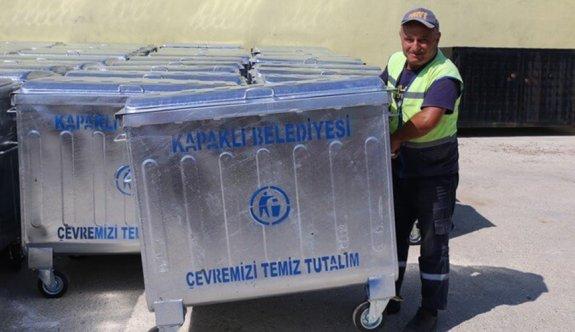 Çöp konteynırları yenilendi