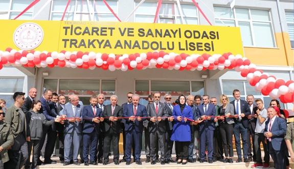 ÇTSO Trakya Anadolu Lisesinin açılışı gerçekleşti