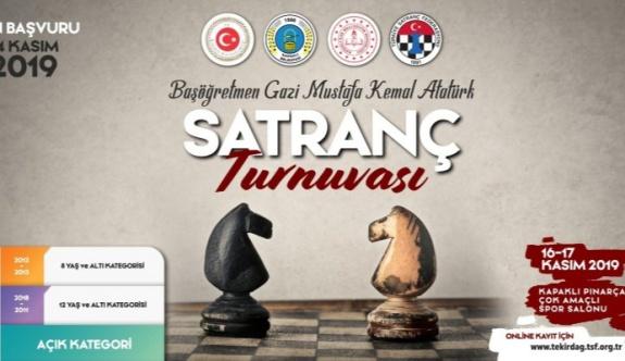 Başöğretmen Gazi Mustafa Kemal Atatürk Satranç Turnuvası Başvuruları Başladı