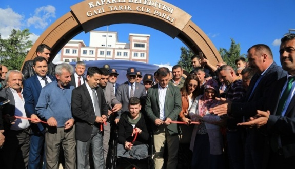 Gazi Tarık Cür Parkı Törenle Açıldı
