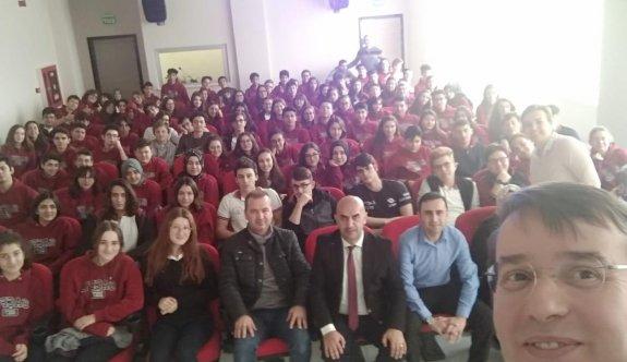 Prof. Dr. Selçuk Toprak Sevval Ahmet Çetin Fen Lisesi'nde öğrencilerle buluştu