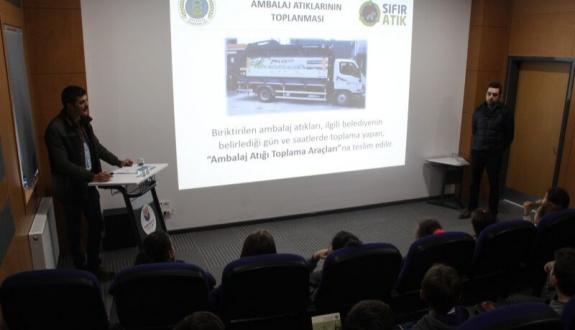 Öğrencilere Sıfır Atık Projesi ve Ambalaj Atıkları Hakkında Eğitimler Verildi