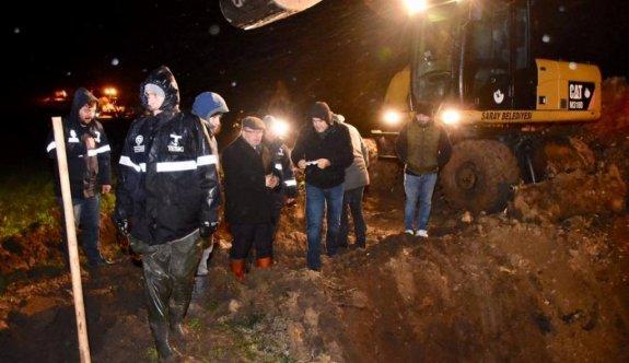 Saray'da İçme Suyu Ana İsale Hattındaki Arıza Giderildi