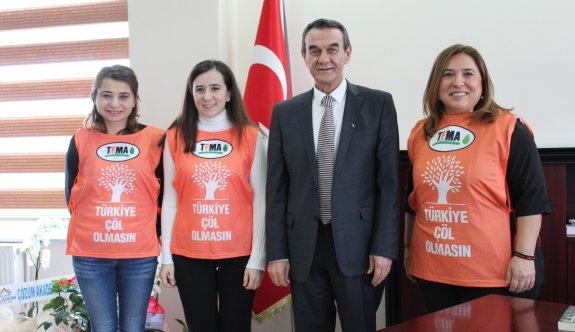 TEMA Çerkezköy Kaymakam Abban'ı ziyaret etti